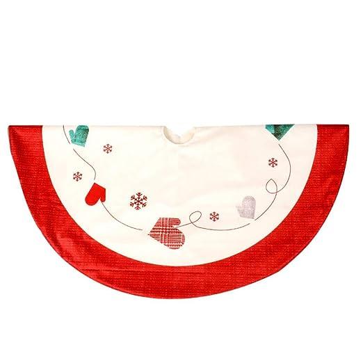 Forart Falda de árbol de navidad alfombra Falda de 48 pulgadas ...