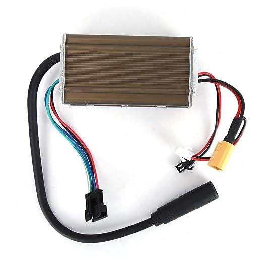 Yiwa Controlador de Controlador de Placa Base Scooter eléctrico 36V de 8 Pulgadas Adecuado para KUGOO