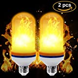 Tools & Hardware : TOLOCO LED Flame Effect Light Bulb for Christmas E26 - 1300K 150 Lumens Nature Fire effect - Antique Lantern Atmosphere for Christmas, Hotel , Bars, Home Decoration(2 pcs Bulb)