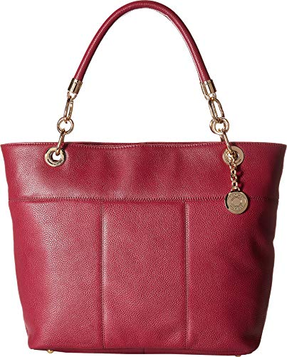 Amazon.com: Tommy Hilfiger Womens TH Signature -Top Zip Tote - Pebble Merlot One Size: Shoes