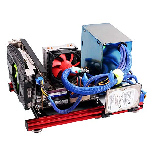 Junluck DIY Mini ITX Motherboard, Aluminum Computer Case, Good Heat Dissipation Performance for Better Performance On Cooling, Compatibility and Maintenance for Testing