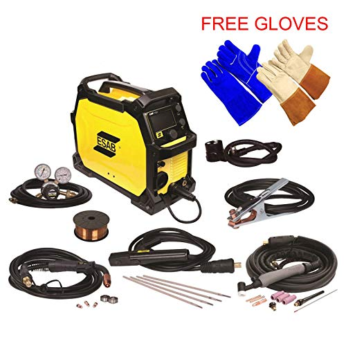 ESAB Rebel EMP 215ic MIG/Stick/Tig Welding Machine - FREE TIG & WELDING GLOVES (Esab Tig Welder)