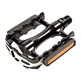 Retrospec Bicycles MTB Summit Warrior Mountain Bike Pedals, Silver and Black