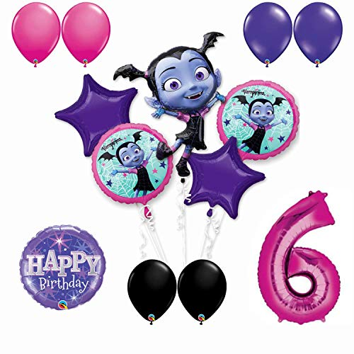 (Vampirina 6th Birthday Party Balloon Bouquet Bundle for Age 6, Includes 13 Balloons)