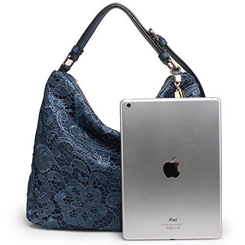 Del Portables Calidad Dise Totalizador De Cruz Borla Hombro Mensajero Se La Bolsa Bolso Oras Moda Ador Azul Las Cuerpo Cuero Mujeres 8aSfqUfw