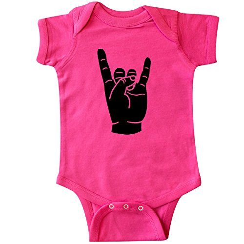 - inktastic - Rocker Horns Infant Creeper 12 Months Hot Pink 18b1d