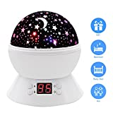 Star Sky Night Lamp,ANTEQI Baby Lights360 Degree Romantic Room Rotating Cosmos Star Projector With LED Timer Auto-Shut Off,USB Cable Plug For Kid Bedroom,Christmas Gift (White)