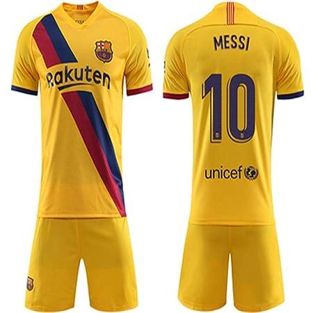QIKHUK Conjunto de fútbol Barcelona Camiseta No. 10 Messi ...