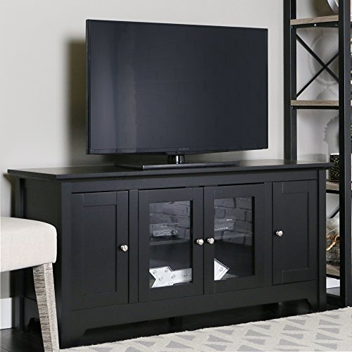 black tv stand with storage - 7