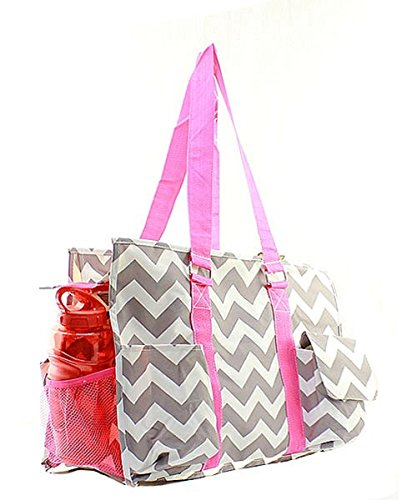 Stripe Canvas NGIL Utility Bag Shopping Travel Tote Multipurpose Chevron qAnw57