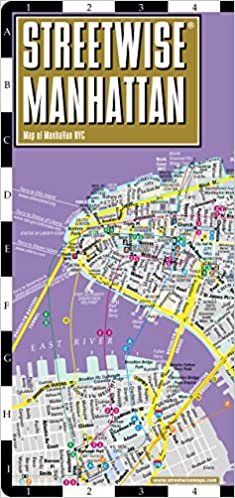 street map of manhattan new york Buy Streetwise Manhattan City Center Street Map Of Manhattan New