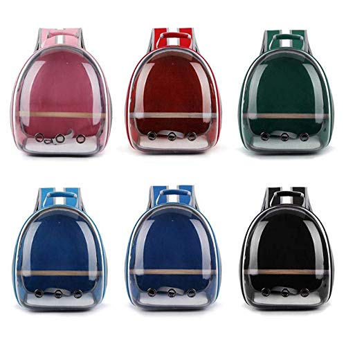 Legend-X Pet Parrot Carrier Bird Travel Bag Space Capsule Transparent Backpack Breathable 360degree Sightseeing