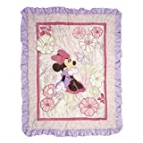 Disney Minnie Mouse Butterfly Dreams Crib Quilted Appliqued Comforter