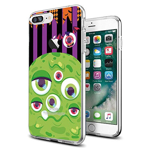 Halloween iPhone case for iPhone 7/8 Plus Protective for Girls Men Women Back Cover Shockproof Bumper Anti-Drop TPU Frame for 5.5