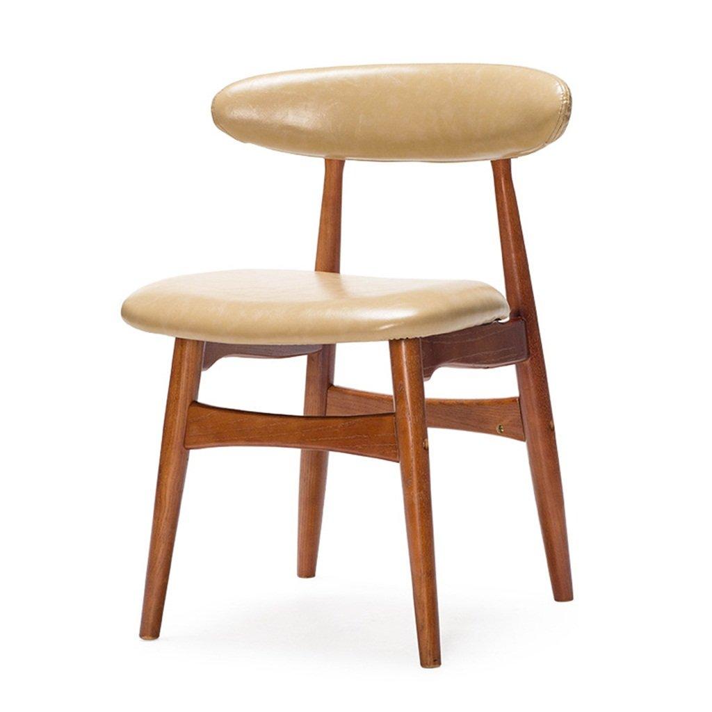 デスクチェアー用に使用される背もたれを備えた木製の椅子家庭用オフィス&商業用近代ファッションスタイルベージュ B076M1WWQY