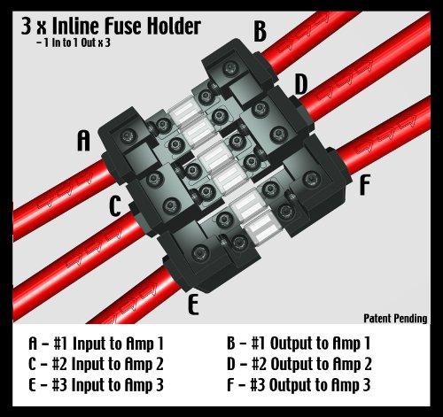KnuKonceptz KNF-60 3 / 4 Way 0 Gauge Fuse Distirbution Block by KnuKonceptz (Image #5)'