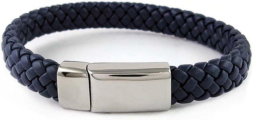 Yeidid International Brown Braided Leather Bracelet for Men Women Genuine Leather Bangle Wristband
