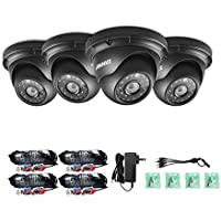 ANNKE 4 pakced 1.3MP 960P AHD TVI Security Dome Camera, 3.6MM Lens IP66 Waterproof Outdoor Indoor Night/Day Vision 66ft