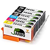 JARBO Replaced for HP 364XL 364 Ink Cartridges (incl. Photo Black) Compatible with HP Photosmart 6520 5510 7510 7520 6510 5515 5520 C5380 B110a HP OfficeJet 4620 4622 HP Deskjet 3070A 3520 3524 3522