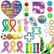 35 Pack Sensory Fidget Toys Set, Push pop pop Autism Special Dimple Sensory Toys Sets for Kids Adults, Stress