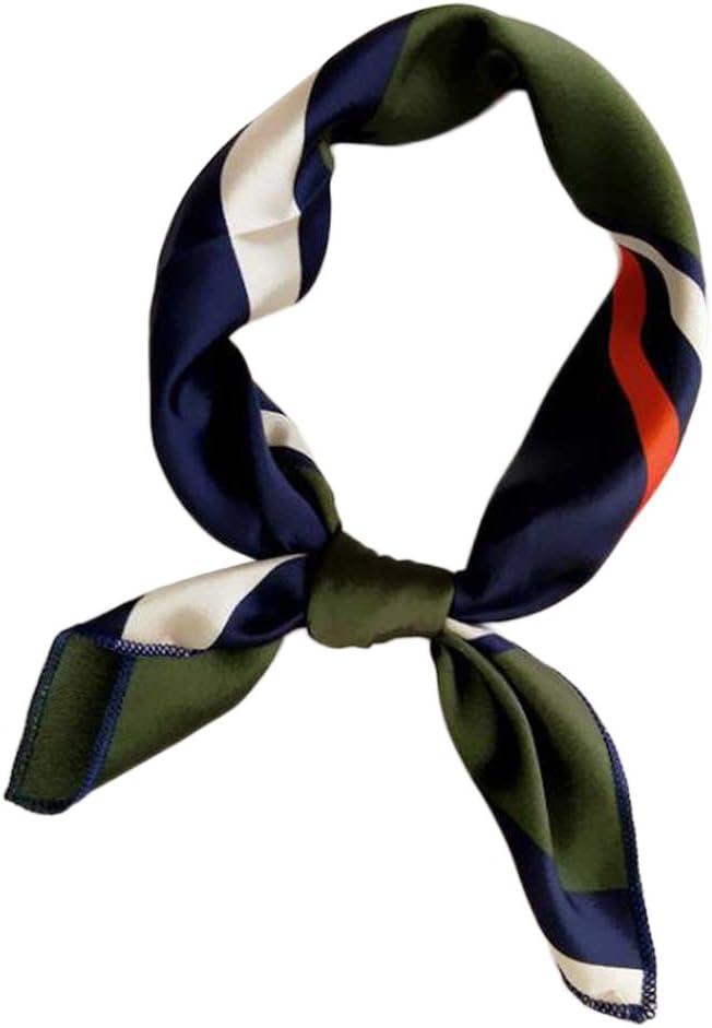 Dabixx Elegantes Design Satin Frauen Damen Kleine Quadratische Kopf Hals Quadrat Schal Schal 50 cm 1#