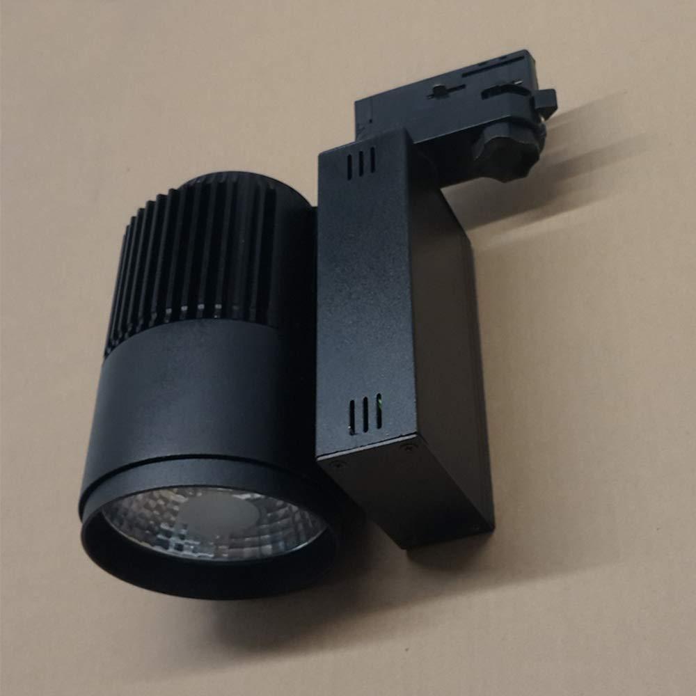 Dissipazione di Calore COB Spot Montato su Guida Orientabile A 360 /° Faretto per Foyer Corridoio Armadio Vetrina Galleria,Bianca,12W LYDIAMOON Faretti LED da Soffitto