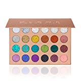 Pressed Glitter Eyeshadow Palette – Festival Version (24 Colors) - Highly Pigmented, Shimmery - Waterproof & Long-Lasting, For Face, Body, Nails & Hair – No Glue Or Primer Needed