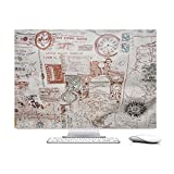 Travel around the world,HAND MADE Padded velvet Dust Cover for Apple iMac 27-inch - Screen Monitor Protector Guard