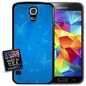 Blue Butterfly Galaxy S5 Hard Case by lolosakes