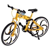 UDee Die cast Metal Bicycle Model Toy Racing Cycle Model,Yellow
