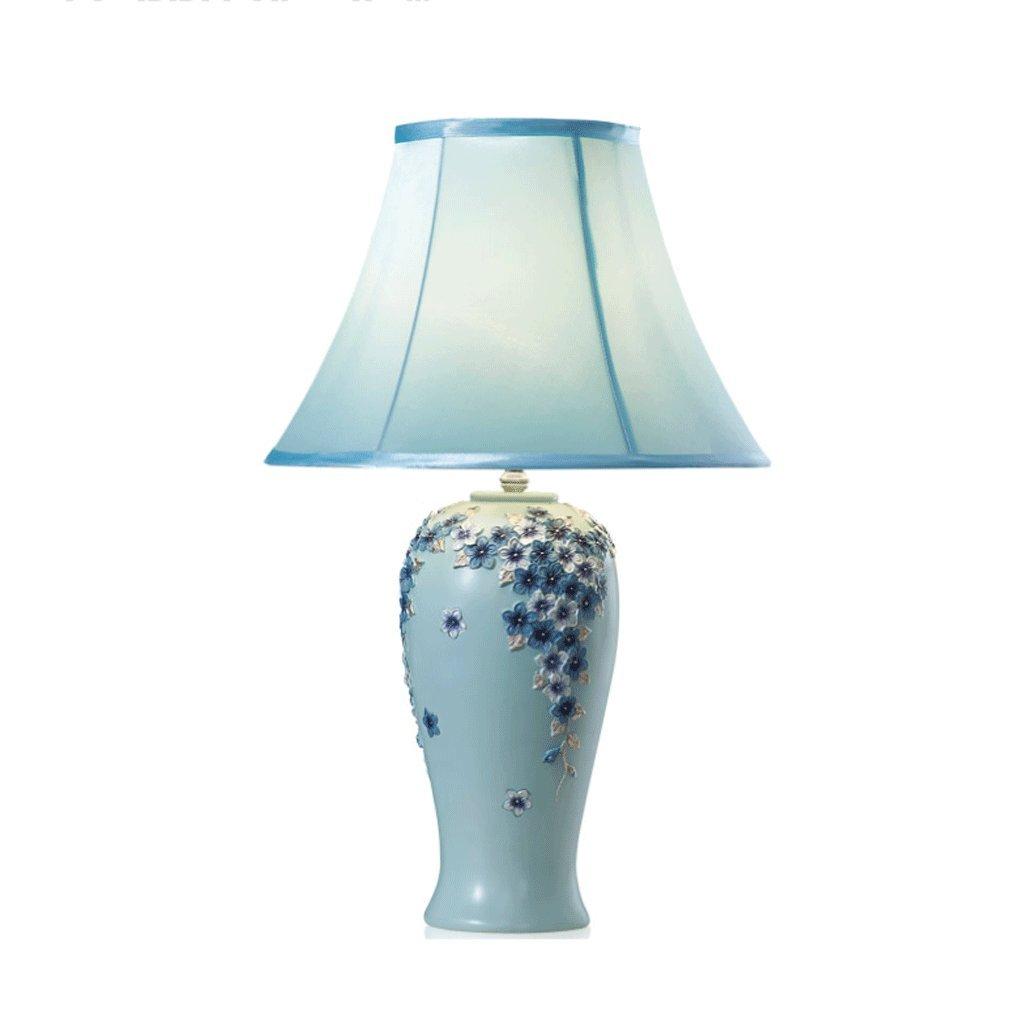 NJ Tischleuchte- Europäische Pastorale Moderne Minimalistische Schreibtischlampe Wohnzimmer Studie Mode Niedlichen Dekorative Tischlampe Schlafzimmer Nachttischlampe (Größe   B)