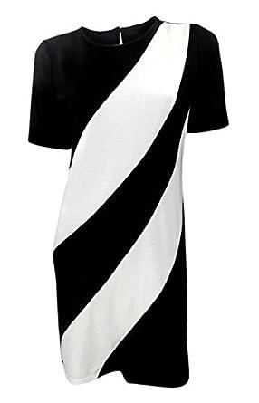 Marks And Spencer 60s Style Black Cream Monochrome Shift Dress