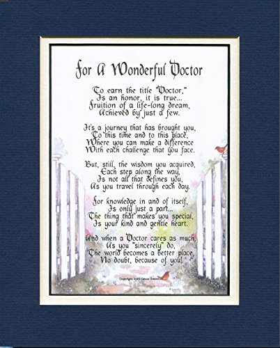 #168 Gift Poem Present For a Doctor, Thank you gift. More Color Options (Thank You Gifts For Doctors)