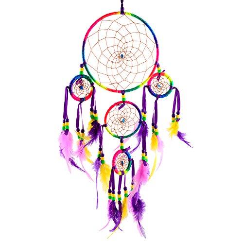 Soledi Handmade Colorful Circular feathers