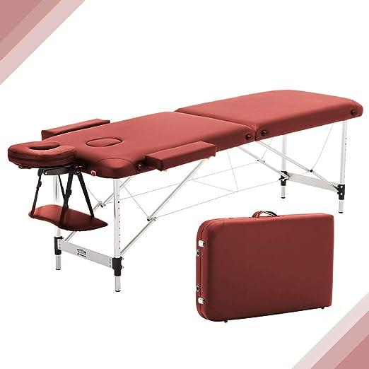 JL Comfurni - Mesa de masaje plegable portátil para tatuaje ...
