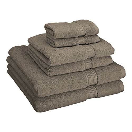 Superior 900 GSM Luxury Bathroom 6-Piece Towel Set, Made of 100% Premium Long-Staple Combed Cotton, 2 Hotel & Spa Quality Washcloths, 2 Hand Towels, and 2 Bath Towels – Charcoal