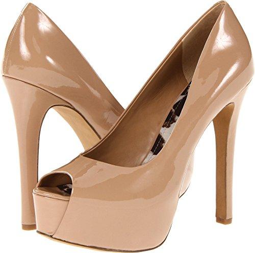 Jessica Simpson Women's Carri Platform, Nude Patent, 10 Medium US (Jessica Leather Platforms)