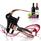 Sunfuny Premium Rabbit Wine Bottle Opener Set with Foil Knife,Extra Corkscrew Worm,Vacuum Wine Stopper, Christmas Gift for Sommeliers Waiters Bartenders