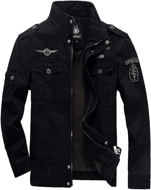 メンズフリースジャケット、襟コットンジャケットコート、メンズカジュアルウインドブレーカーコットンミリタリージャケット
