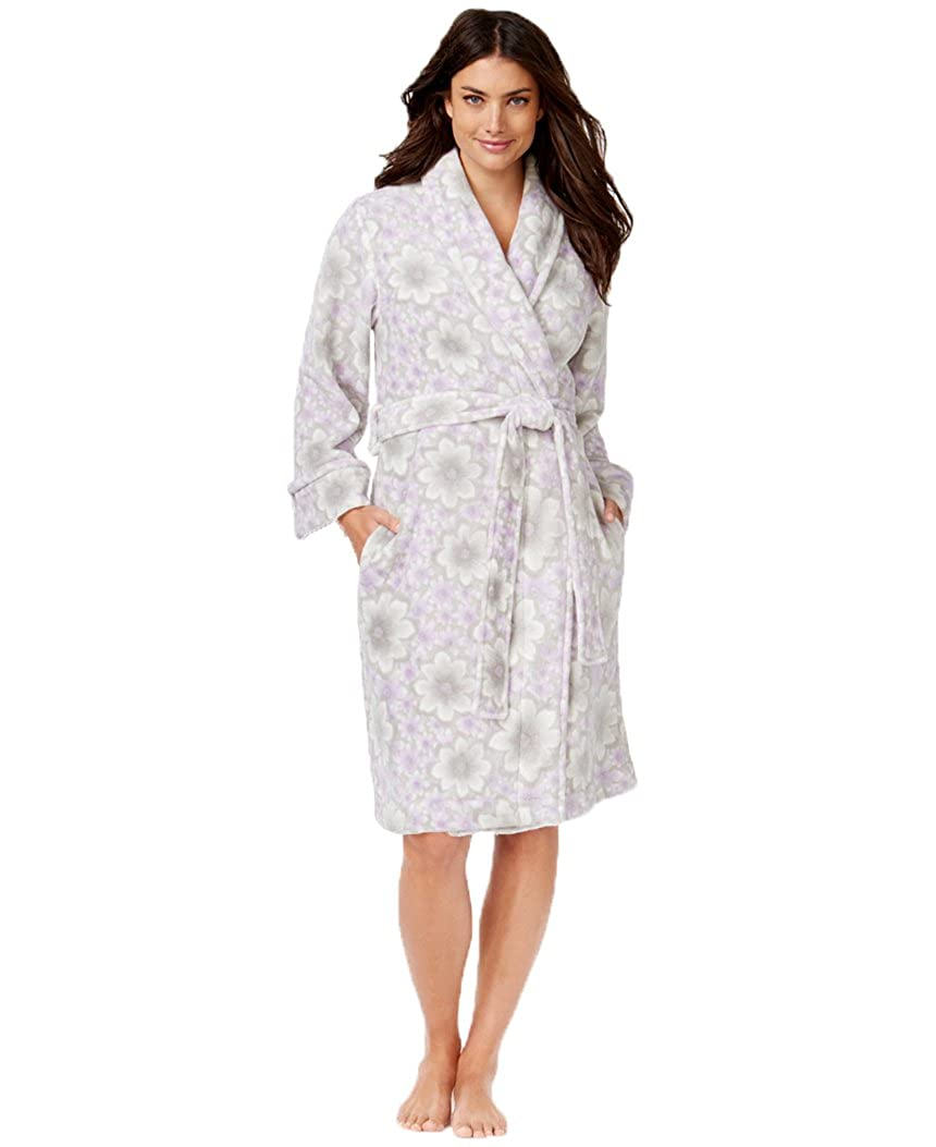 309b80554d Charter Club Women s Super Soft Short Floral Robe (XX-Large