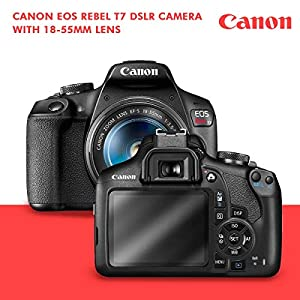 Canon T7 EOS Rebel DSLR Camera with EF-S 18-55mm f/3.5-5.6 is II Lens W/Telephoto & Wideangle Lens 3 Pc. Filter Kit…