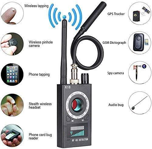 Anti-Spion versteckter Kamera-Detektor, Wanzen Detektor RF Wireless, Wanzendetektor GPS Finder Laser für GSM Tracker Abhörgeräte Funkkameras Wanzenfinder