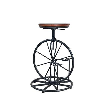Udane Hermosos muebles Q-chair home Taburete de bar Taburete de madera maciza Taburete alto