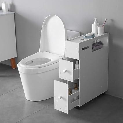 Cool Ssline Slim Bathroom Floor Cabinet Wood Bathroom Storage Organizer Toilet Paper Holder Bath Space Saver Corner Gap Narrow Storage Cabinet For Washroom Interior Design Ideas Skatsoteloinfo