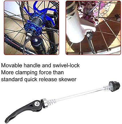 1Pair Stainless Steel Bicycle Wheel Skewer Road Bike MTB Quick Release Axle Bolt