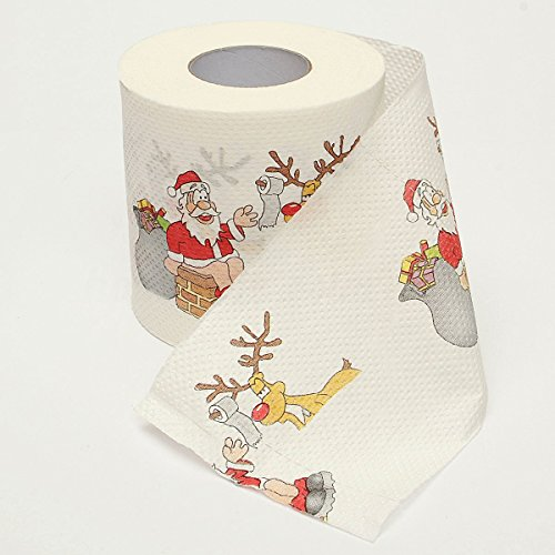 MONOMONO-Santa Claus Xmas Home Household Supplies Toilet Paper Roll Living Room Décor Hot