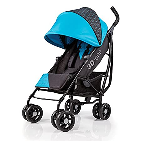 Summer Infant 3D One Convenience Stroller, Geometric Blue 32503