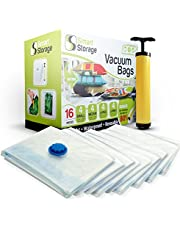 Smart Storage Pack Jumbo Vacuum Storage Space Saver Bag Set | Vacuum Storage Bags with Travel Hand Pump | Reusable Space Saver Bags for Home & Travel (28 x 39.5 inch)
