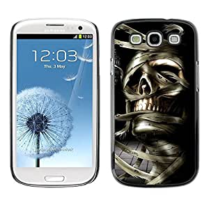 All Phone Most Case / Hard PC Metal piece Shell Slim Cover Protective Case Carcasa Funda Caso de protección para Samsung Galaxy S3 I9300 Skull Mummy Egypt Pharaoh Black White