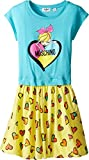 Moschino Kids Girl's Heart Graphic T-Shirt & Skirt Set (Big Kids) Sky Clothing Set